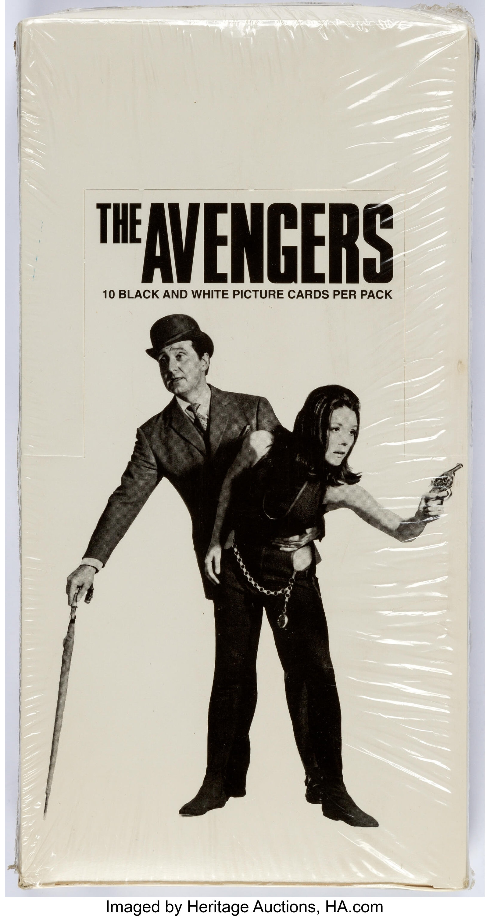 The Avengers Steed and Emma Peel Lean Poster