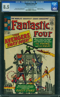 Fantastic Four #26 (Marvel, 1964) CGC VF+ 8.5 Light tan to off-white pages
