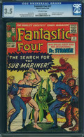 Silver Age (1956-1969):Superhero, Fantastic Four #27 (Marvel, 1964) CGC VG- 3.5 Off-white pages.