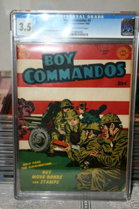 Boy Commandos #3 (DC, 1943) CGC VG- 3.5 Cream to off-white pages