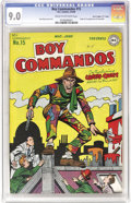 Golden Age (1938-1955):Superhero, Boy Commandos #15 - Davis Crippen (D (DC, 1946) CGC VF/NM 9.0 Cream to off-white pages.