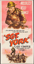 """Movie Posters:War, Sergeant York (Dominant, R-1958). Three Sheet (41"""" X 79""""), TitleLobby Card & Lobby Cards (2) (11"""" X 14""""). War.. ... (Total: 4Items)"""