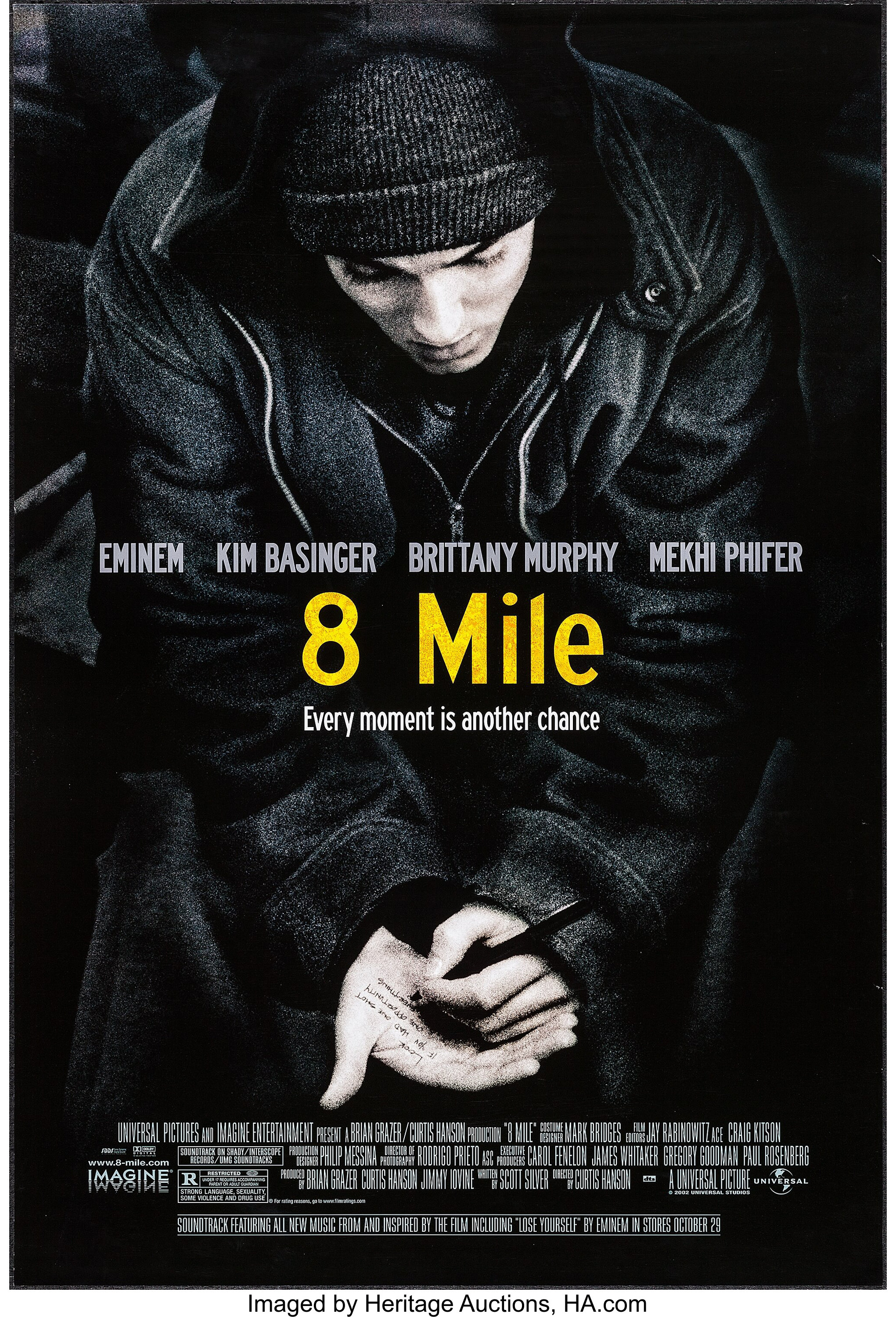 8 Mile Universal 2002 One Sheet 27 X 40 Ds Drama Lot 54007 Heritage Auctions