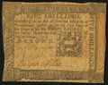 Colonial Notes:Pennsylvania, Pennsylvania October 1, 1773 5s Very Fine.. ...