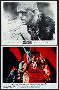 """Movie Posters:Horror, Kevin McCarthy in Twilight Zone: The Movie & Other Lot (2000). Autographed Color Convention Photo & Autographed Photo (8"""" X ... (Total: 2 Items)"""
