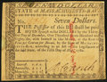 Colonial Notes:Massachusetts, Massachusetts May 5, 1780 $7 Uncancelled About New.. ...