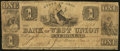 Obsoletes By State:Ohio, West Union, OH - Bank of West Union $1 Jan. 1, 1839 G40 Wolka2824-04. ...
