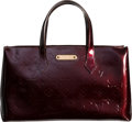 """Luxury Accessories:Bags, Louis Vuitton Red Monogram Vernis Leather Wilshire PM Tote Bag.Pristine Condition. 12"""" Width x 7"""" Height x 4""""Depth..."""