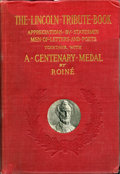 Lincoln, Lincoln Birth Centennial Medal by Jules Edouard Roine. King-332,Cunningham-11-230Csp. Housed within a book, The Lincoln T...