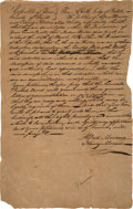 Miscellaneous, [Goliad Massacre]. Petition Filed Seeking Letter of Administrationfor the Estate of Andrew Winter. ...