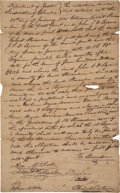 Autographs:Statesmen, [Slavery]. Texas Declaration Signer Asa Brigham Document Signed....