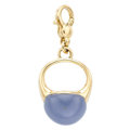 Estate Jewelry:Pendants and Lockets, Chalcedony, Gold Ring-Pendant. ...