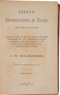 Books:Americana & American History, J. W. Wilbarger. Indian Depredations in Texas. Austin:Hutchings Printing House, 1890....