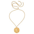 Estate Jewelry:Pendants and Lockets, Gold Pendant-Necklace. . ...