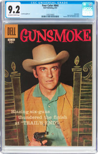 Four Color #844 Gunsmoke (Dell, 1957) CGC NM- 9.2 Off-white to white pages