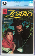 Silver Age (1956-1969):Adventure, Four Color #1037 Zorro (Dell, 1959) CGC VF/NM 9.0 Off-white to white pages....
