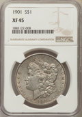 Morgan Dollars: , 1901 $1 XF45 NGC. NGC Census: (387/4147). PCGS Population: (526/4418). Mintage 6,962,813. ...