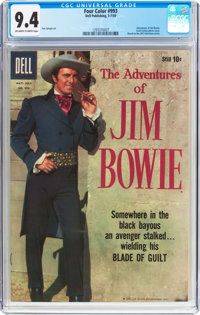 Four Color #993 The Adventures of Jim Bowie (Dell, 1959) CGC NM 9.4 Off-white to white pages