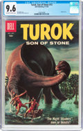 Silver Age (1956-1969):Adventure, Turok, Son of Stone #13 (Dell, 1958) CGC NM+ 9.6 Off-white to white pages....