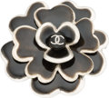"Luxury Accessories:Accessories, Chanel Black Enamel Flower Brooch. Pristine Condition. 2""Width x 2"" Height x 0.5"" Depth. ..."