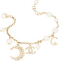 "Luxury Accessories:Accessories, Chanel Gold & Glass Pearl Dubai Charm Bracelet. PristineCondition. 7.25"" Length x 1"" Width. ..."