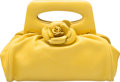 "Luxury Accessories:Bags, Chanel Yellow Lambskin Leather Camelia Bag. Very GoodCondition. 8.5"" Width x 4"" Height x 4"" Depth. ..."