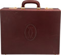 """Luxury Accessories:Travel/Trunks, Cartier Red Leather Trunk. Good Condition. 17.5"""" Width x13.5"""" Height x 7.5"""" Depth. ..."""