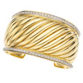 Estate Jewelry:Bracelets, Diamond, Gold Bracelet, David Yurman. . ...