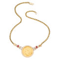 Estate Jewelry:Necklaces, U.S. $10 Indian Head Gold Coin, Diamond, Pink Tourmaline, GoldNecklace. . ...