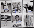 Baseball Collectibles:Photos, Brooklyn/Los Angeles Dodgers Signed Photograph Lot of 12....