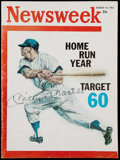 """Baseball Collectibles:Publications, 1961 Mickey Mantle Signed """"Newsweek"""" Magazine...."""