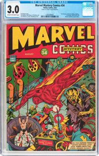 Marvel Mystery Comics #34 (Timely, 1942) CGC GD/VG 3.0 Cream to off-white pages