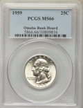Washington Quarters, 1959 25C MS66 PCGS. Ex: Omaha Bank Hoard. PCGS Population: (716/19). NGC Census: (912/67). Mintage 24,300,000....
