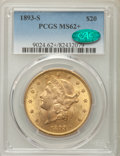 1893-S $20 MS62+ PCGS. CAC. PCGS Population: (1687/667 and 32/16+). NGC Census: (1786/327 and 9/1+). CDN: $1,500 Whsle...