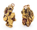 """Minerals:Golds, """"His and Her"""" Gold Pendants. Alaska. ... (Total: 2 Items)"""