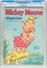 Mickey Mouse Magazine V3#11 File Copy (K. K. Publications/Western Publishing Co., 1938) CGC VF/NM 9.0 Cream to off-white...