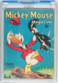 Golden Age (1938-1955):Cartoon Character, Mickey Mouse Magazine V3#12 (K. K. Publications/Western PublishingCo., 1938) CGC VF- 7.5 Cream to off-white pages....