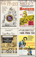 "Movie Posters:Drama, The Greatest Story Ever Told & Others Lot (United Artists, 1965). Window Cards (7) (14"" X 22""). Drama.. ... (Total: 7 Items)"