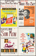 "Movie Posters:Animation, Gay Purr-ee & Others Lot (Warner Brothers, 1962). Window Cards (4) (14"" X 22""). Animation.. ... (Total: 4 Items)"