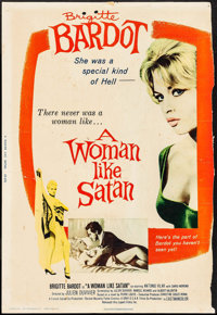 "A Woman Like Satan (Lopert, 1959). Trimmed Poster (27.25"" X 40""). Bad Girl"