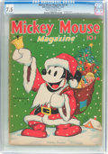 Platinum Age (1897-1937):Miscellaneous, Mickey Mouse Magazine V3#3 (K. K. Publications/ Western Publishing Co., 1937) CGC VF- 7.5 Cream to off-white pages....