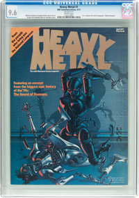 Heavy Metal #1 (HM Communications, 1977) CGC NM+ 9.6 White pages
