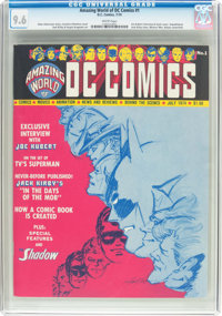 Amazing World of DC Comics #1 (DC, 1974) CGC NM+ 9.6 White pages