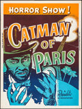 "Movie Posters:Horror, The Catman of Paris (Republic, R-1956). Screen Print Poster (30"" X40""). Horror.. ..."