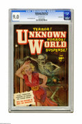 Golden Age (1938-1955):Horror, Unknown World #1 Crowley Copy pedigree (Fawcett, 1952) CGC VF/NM9.0 Off-white pages. No copy of this one-shot has been grad...