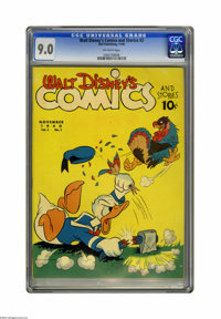 Walt Disney's Comics and Stories #2 (Dell, 1940) CGC VF/NM 9.0 Off-white pages. This blows away any copy of this issue w...
