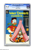 Golden Age (1938-1955):Cartoon Character, Walt Disney's Comics and Stories #170 (Dell, 1954) CGC NM 9.4 Off-white to white pages. Carl Barks cover and Donald Duck sto...
