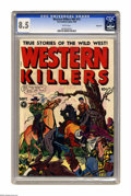 "Golden Age (1938-1955):Western, Western Killers #60 (#1) Vancouver pedigree (Fox FeaturesSyndicate, 1948) CGC VF+ 8.5 White pages. ""Extreme violence"" anda..."