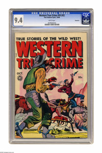 Western True Crime #16 (#2) Vancouver pedigree (Fox Features Syndicate, 1948) CGC NM 9.4 White pages. Jack Kamen-esque a...