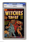 Golden Age (1938-1955):Horror, Witches Tales #14 File Copy (Harvey, 1952) CGC VF/NM 9.0 Cream tooff-white pages. This black-background beauty is loaded wi...